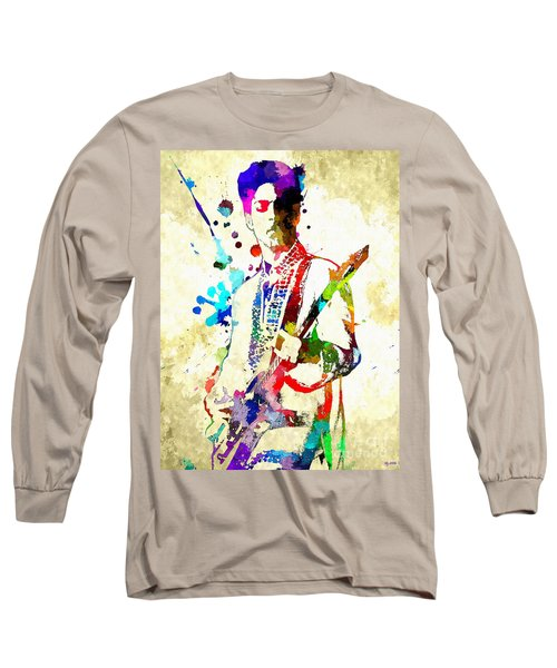 Prince In Concert Long Sleeve T-Shirt by Daniel Janda
