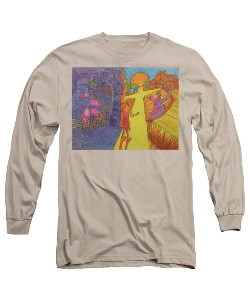 Prodigal Son Parable Painting By Bertram Poole Long Sleeve T-Shirt