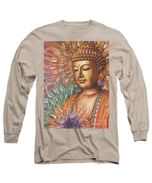 Proliferation Of Peace - Buddha Art By Christopher Beikmann Long Sleeve T-Shirt