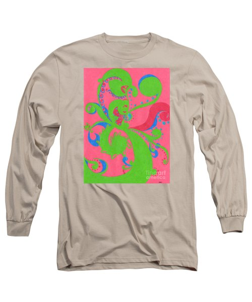 Long Sleeve T-Shirt featuring the drawing Prosperity by Kim Sy Ok