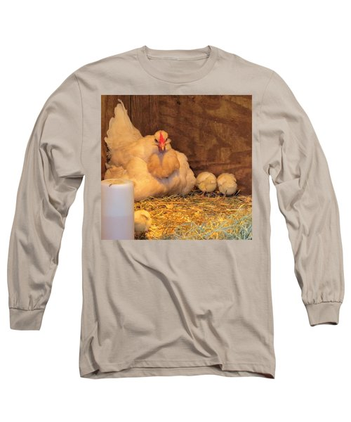 Proud Mother Hen Long Sleeve T-Shirt by Jeanette Oberholtzer