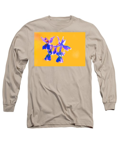 Orange Provence Orchid  Long Sleeve T-Shirt by Richard Patmore
