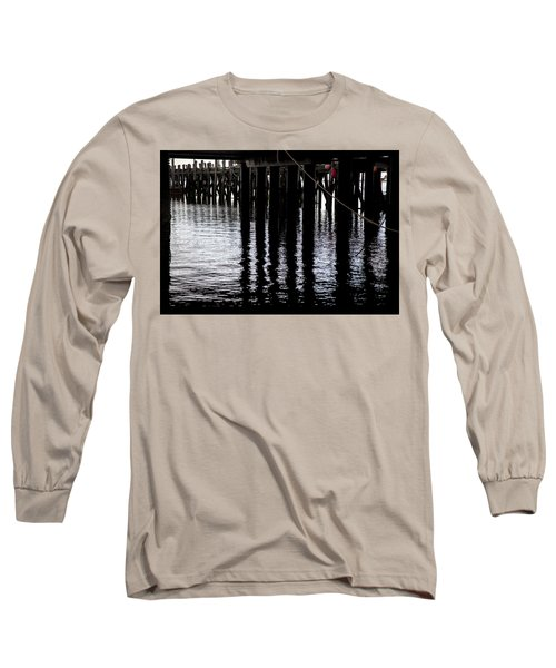 Long Sleeve T-Shirt featuring the photograph Provincetown Wharf Reflections by Charles Harden