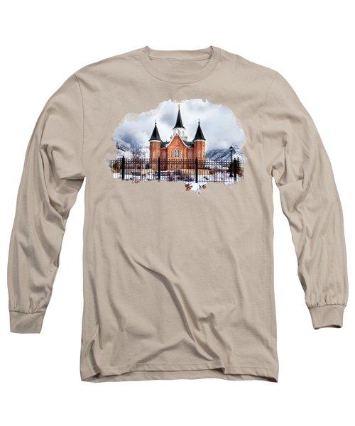 Provo City Center Temple Lds Large Canvas Art, Canvas Print, Large Art, Large Wall Decor, Home Decor Long Sleeve T-Shirt