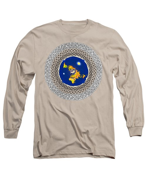 Psalm 37 Flat Earth Long Sleeve T-Shirt