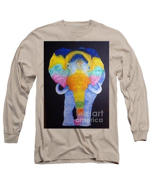 Psychedelic Elephant  Long Sleeve T-Shirt