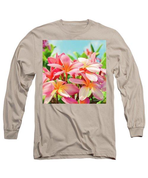 Pua Melia Ke Aloha Maui Long Sleeve T-Shirt