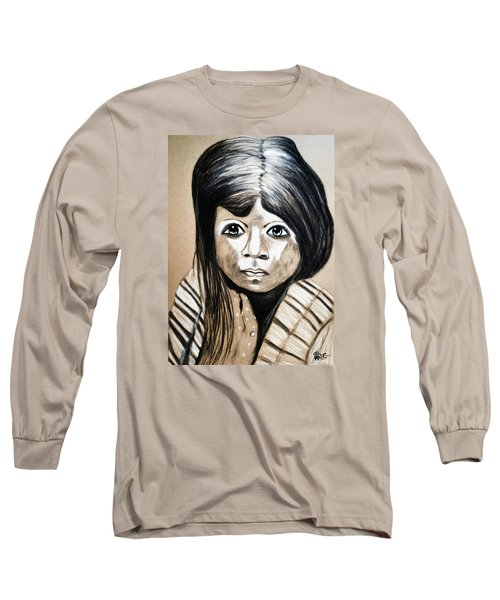 Pueblo Girl Long Sleeve T-Shirt by Ayasha Loya