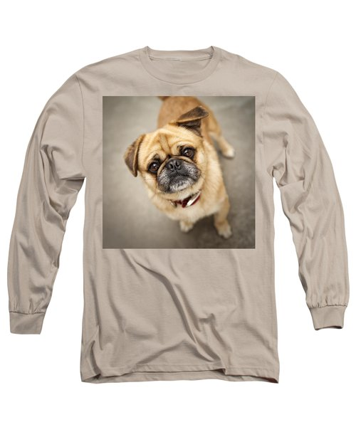 Pug Dog 2 Long Sleeve T-Shirt by Mike Santis