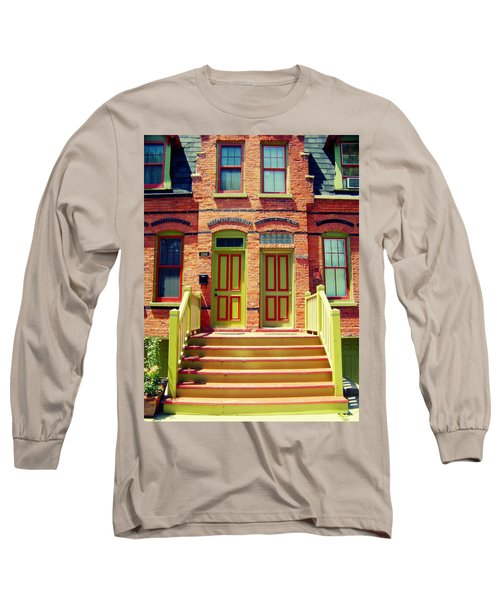 Pullman National Monument Row House Long Sleeve T-Shirt by Kyle Hanson