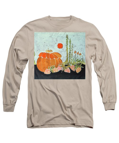 Pumpkin And Asparagus Long Sleeve T-Shirt