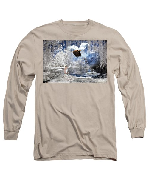 Pure Hearted Warrior Long Sleeve T-Shirt by Dolores Develde