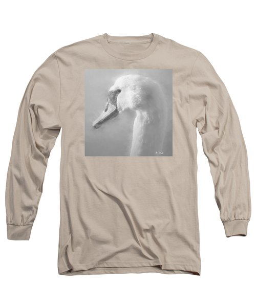 Long Sleeve T-Shirt featuring the painting Purity Bw by Rose-Maries Pictures