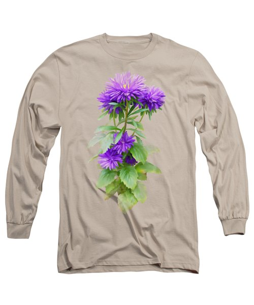 Purple Aster Long Sleeve T-Shirt