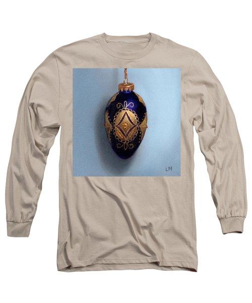 Purple Filigree Egg Ornament Long Sleeve T-Shirt