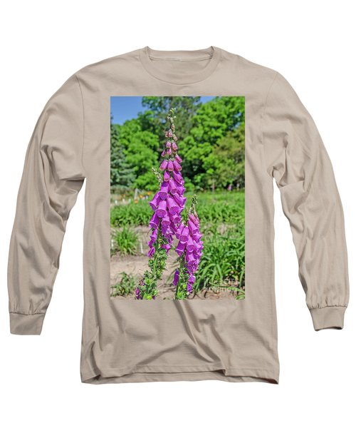 Purple Foxglove Digitalis Purpurea L Long Sleeve T-Shirt