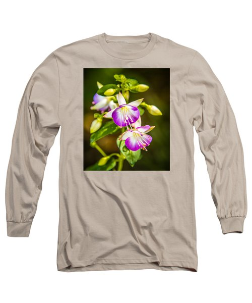 Purple Glow Long Sleeve T-Shirt by Jerry Cahill