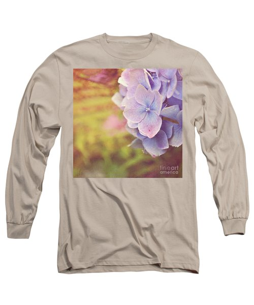 Long Sleeve T-Shirt featuring the photograph Purple Hydrangea by Lyn Randle