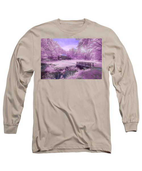 Long Sleeve T-Shirt featuring the photograph Purple Mill by Brian Hale