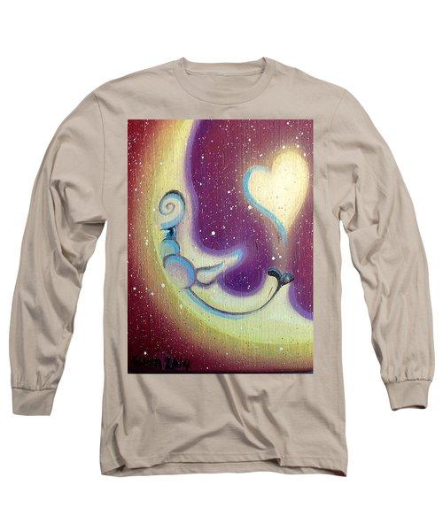 Purple Moon Long Sleeve T-Shirt