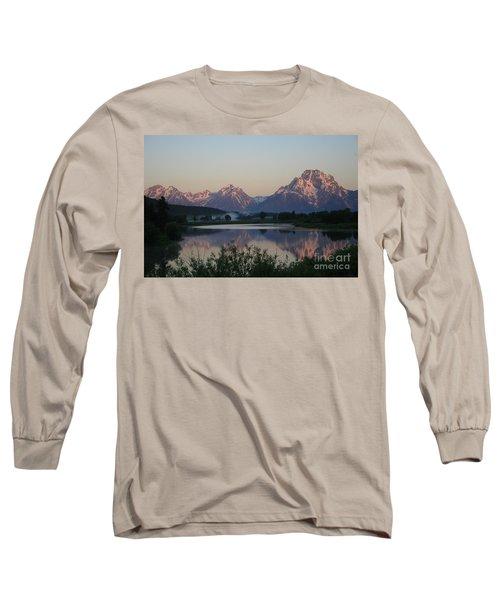 Purple Mountain Majesty  Long Sleeve T-Shirt by Paula Guttilla