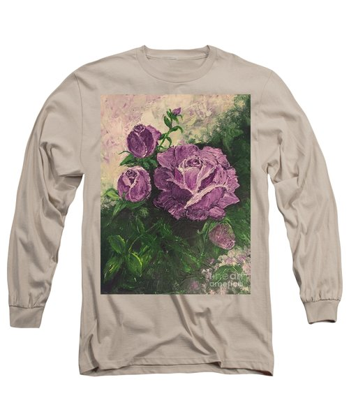 Purple Passion Long Sleeve T-Shirt by Lucia Grilletto