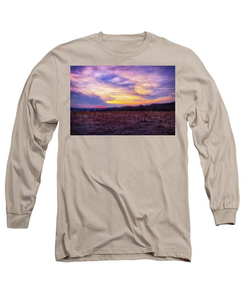 Purple Sunset At Retzer Nature Center Long Sleeve T-Shirt by Jennifer Rondinelli Reilly - Fine Art Photography