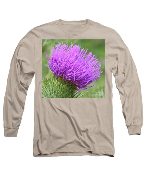 Purple Thistle Long Sleeve T-Shirt