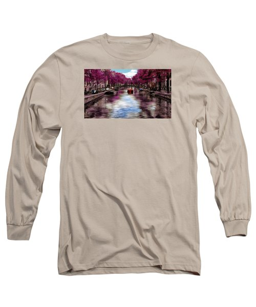 Purple Water Long Sleeve T-Shirt