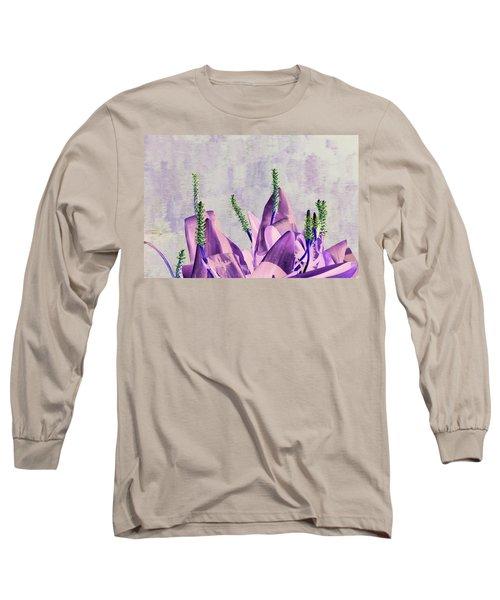 Purple Water Plant Long Sleeve T-Shirt