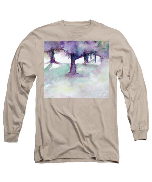 Purplescape II Long Sleeve T-Shirt by Jan Bennicoff
