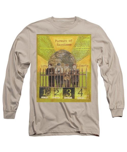 Long Sleeve T-Shirt featuring the mixed media Pursuit Of Happiness by Desiree Paquette