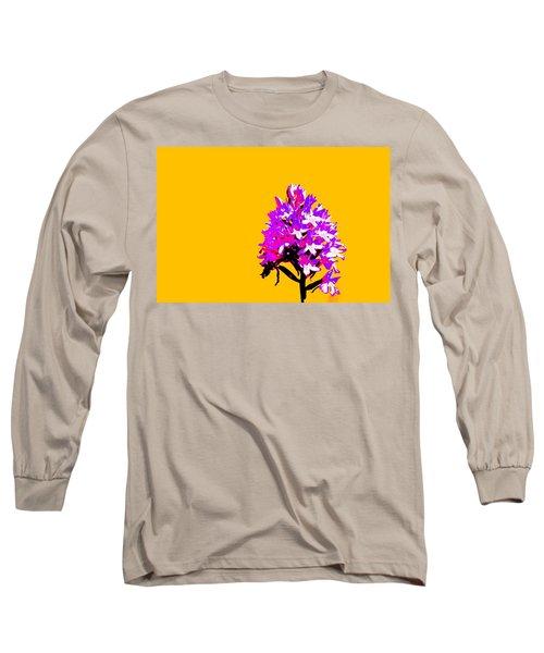 Orange Pyramid Orchid  Long Sleeve T-Shirt by Richard Patmore