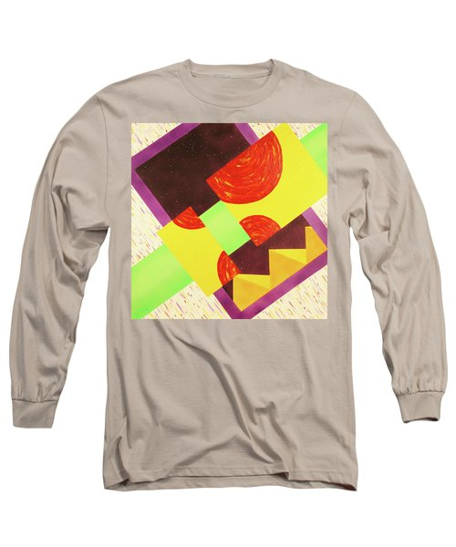 Pyramids And Pepperoni Long Sleeve T-Shirt by Thomas Blood