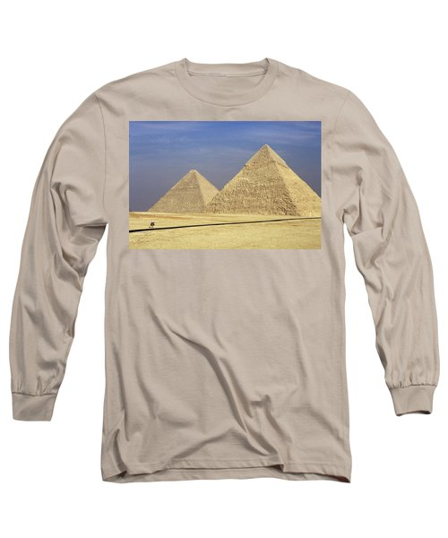 Pyramids At Giza Long Sleeve T-Shirt