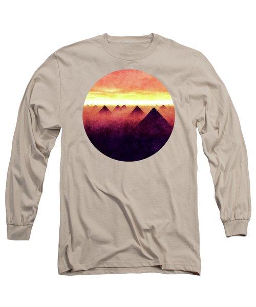 Pyramids At Sunrise Long Sleeve T-Shirt
