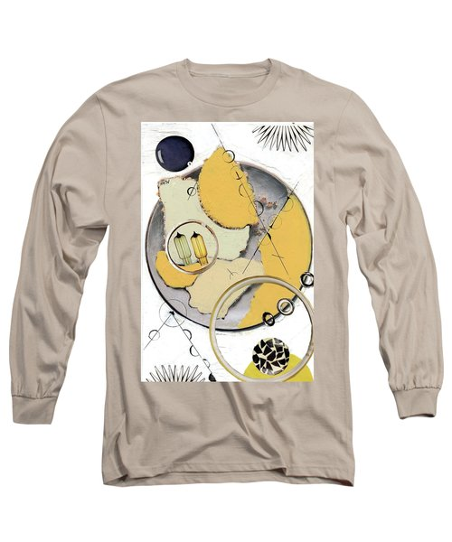 Long Sleeve T-Shirt featuring the painting Quantom Physics by Michal Mitak Mahgerefteh