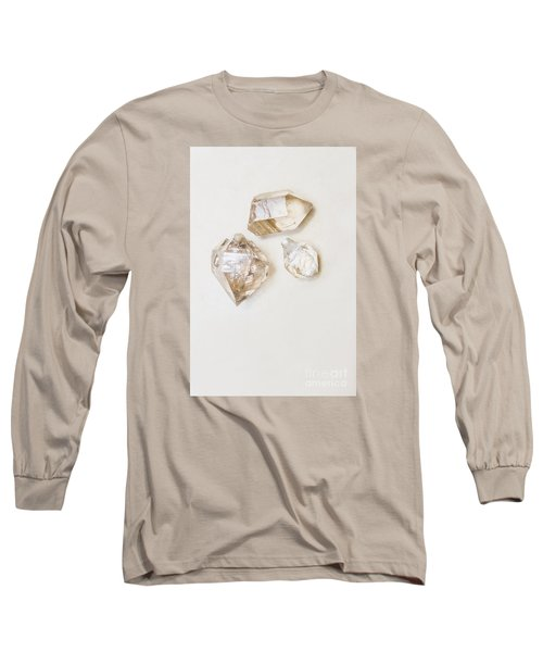 Long Sleeve T-Shirt featuring the photograph Quartz Crystals by Jorgo Photography - Wall Art Gallery