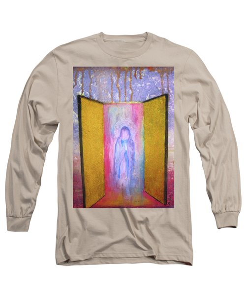 Queen Of Heaven Long Sleeve T-Shirt by Mary Ellen Frazee