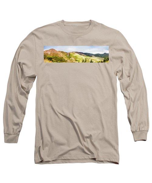 Queenstown Tasmania Wide Mountain Landscape Long Sleeve T-Shirt