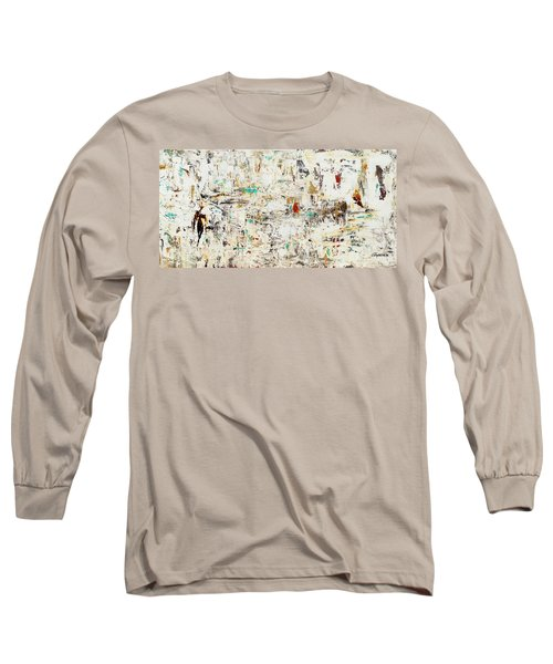 Long Sleeve T-Shirt featuring the painting Quest by Carmen Guedez