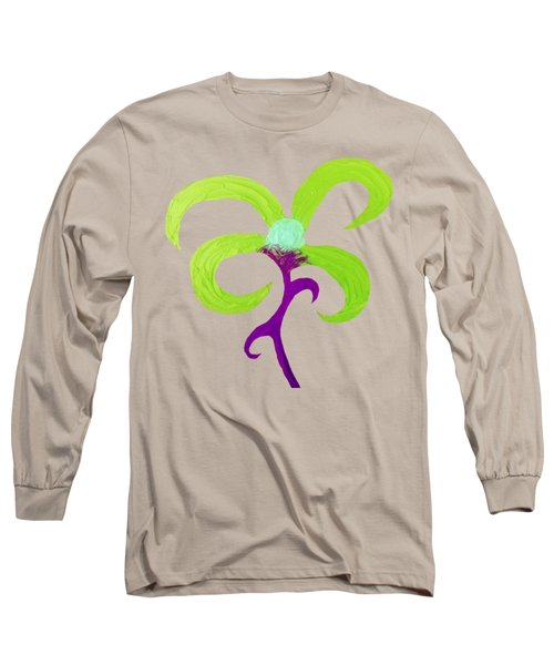Long Sleeve T-Shirt featuring the painting Quirky 4 by Rachel Hannah