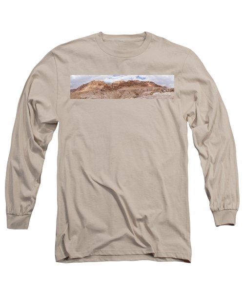 Qumran National Park Long Sleeve T-Shirt by Yoel Koskas
