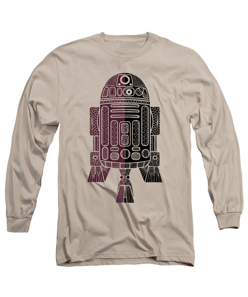 R2d2 - Star Wars Art - Purple Long Sleeve T-Shirt