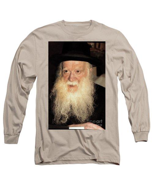 Long Sleeve T-Shirt featuring the photograph Rabbi Yehudah Zev Segal by Doc Braham