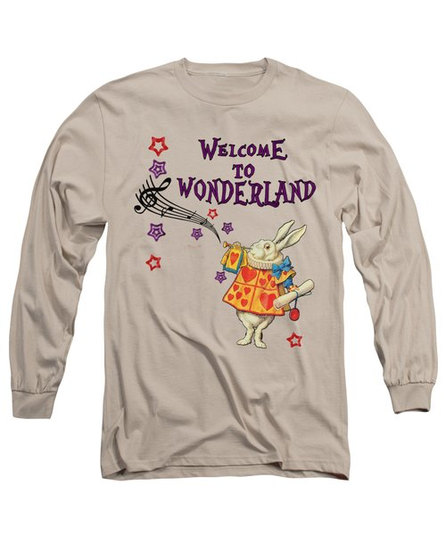 Rabbit Welcome To .. Alice In Wonderland Long Sleeve T-Shirt