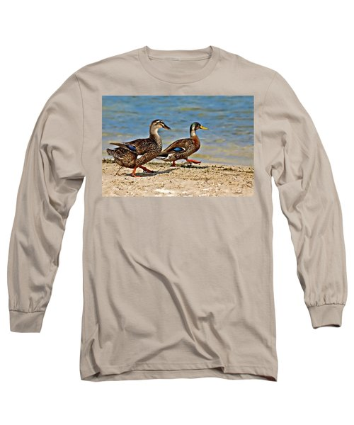 Long Sleeve T-Shirt featuring the photograph Race You To The Water by Carolyn Marshall