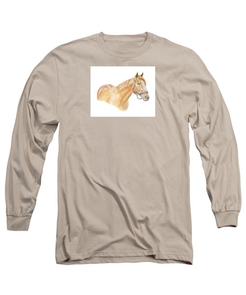 Racehorse Long Sleeve T-Shirt by Elizabeth Lock
