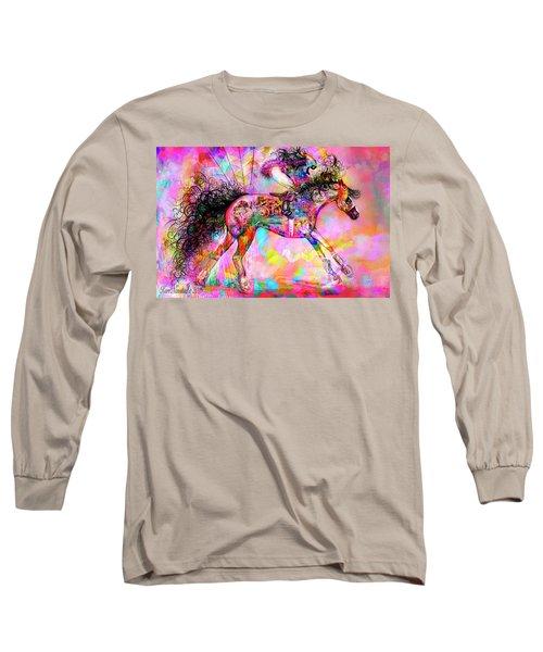 Racing For Time Long Sleeve T-Shirt by Kari Nanstad