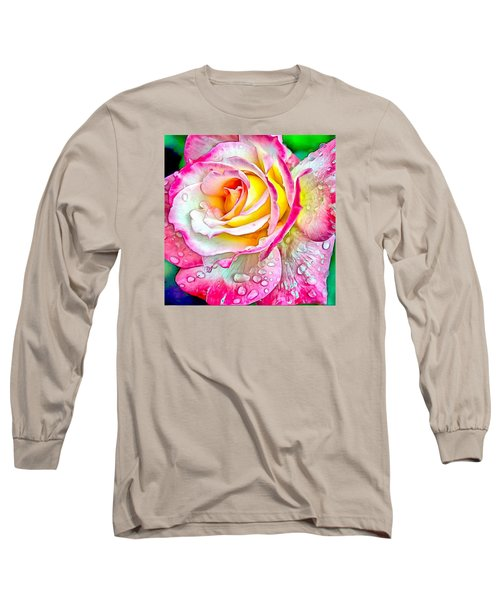 Radiant Rose Of Peace Long Sleeve T-Shirt by Charmaine Zoe